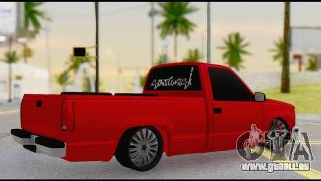 Chevrolet CK 1500 pour GTA San Andreas laissé vue
