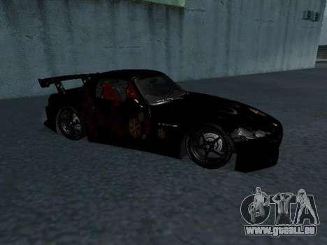 Honda S2000 from Fast & Furious pour GTA San Andreas sur la vue arrière gauche