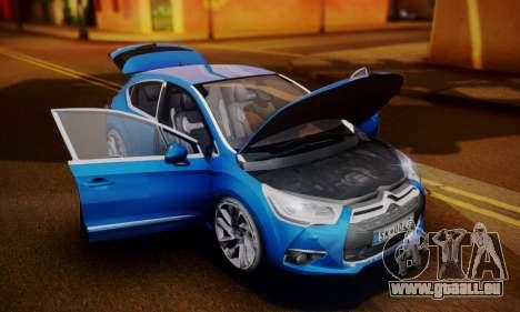 Citroen DS4 2012 pour GTA San Andreas vue de droite