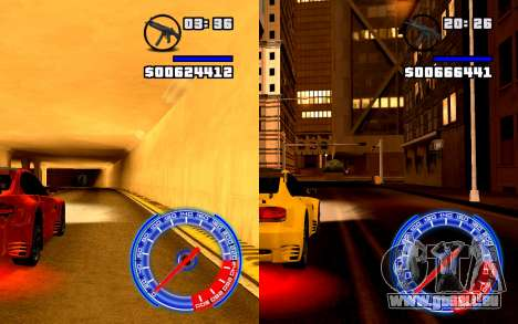 Tacho Konzept StyleV16x9 für GTA San Andreas dritten Screenshot