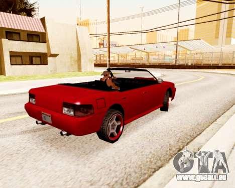 Sultan Convertible pour GTA San Andreas sur la vue arrière gauche