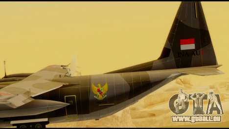 C-130 Hercules Indonesia Air Force für GTA San Andreas zurück linke Ansicht