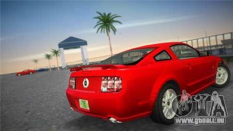 Ford Mustang GT 2005 pour GTA Vice City sur la vue arrière gauche