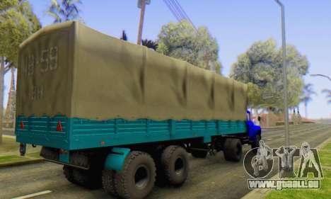 Semi-VÉHICULES pour GTA San Andreas sur la vue arrière gauche