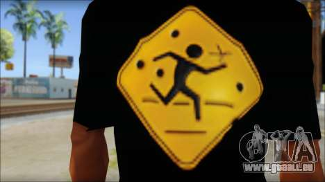 Running With Scissors T-Shirt pour GTA San Andreas troisième écran