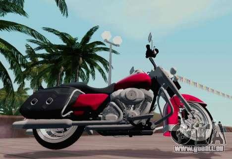 Harley-Davidson Road King Classic 2011 pour GTA San Andreas laissé vue