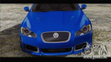Jaguar XFR v1.0 2011 pour GTA San Andreas vue arrière