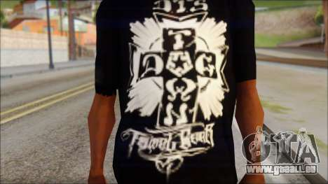 Tribal DOG Town T-Shirt Black für GTA San Andreas dritten Screenshot