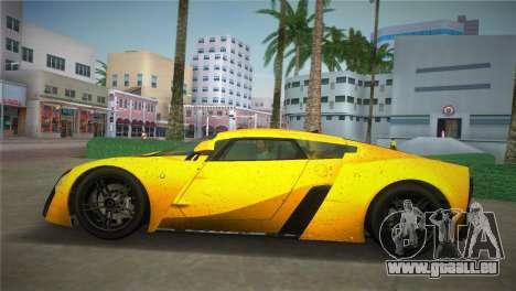 Marussia B2 2010 für GTA Vice City zurück linke Ansicht