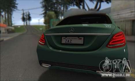 Mercedes-Benz C250 V1.0 2014 für GTA San Andreas Innenansicht
