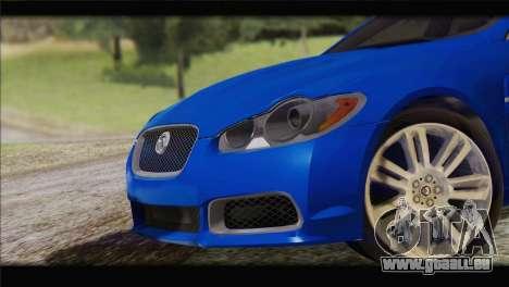 Jaguar XFR v1.0 2011 pour GTA San Andreas sur la vue arrière gauche