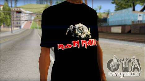 Iron Maiden T-Shirt für GTA San Andreas dritten Screenshot