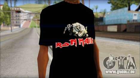 Iron Maiden T-Shirt pour GTA San Andreas troisième écran