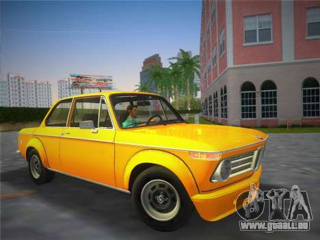 BMW 2002 Tii (E10) 1973 pour GTA Vice City sur la vue arrière gauche
