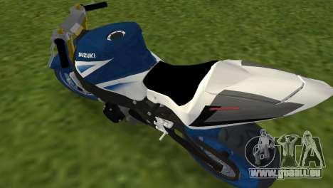 Suzuki GSX-R 1000 StreetFighter für GTA Vice City zurück linke Ansicht