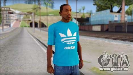 Blue Adidas Shirt pour GTA San Andreas