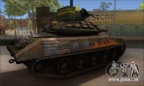 Sheridan M551 pour GTA San Andreas sur la vue arrière gauche