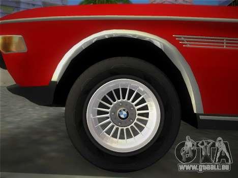 BMW 3.0 CSL 1971 pour GTA Vice City sur la vue arrière gauche