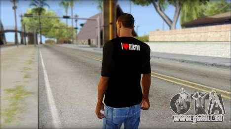 I Love Electro T-Shirt für GTA San Andreas zweiten Screenshot