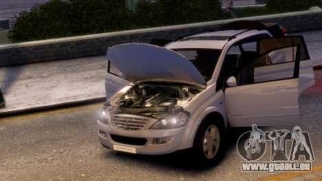 SsangYong Kyron pour GTA 4 Vue arrière de la gauche