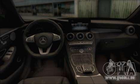 Mercedes-Benz C250 V1.0 2014 pour GTA San Andreas vue de dessus