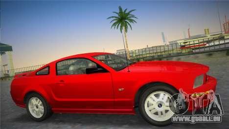 Ford Mustang GT 2005 pour une vue GTA Vice City de la gauche