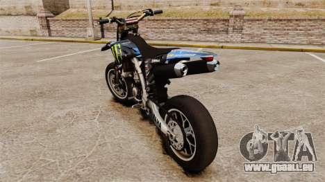Yamaha YZF-450 v1.8 pour GTA 4 Vue arrière de la gauche