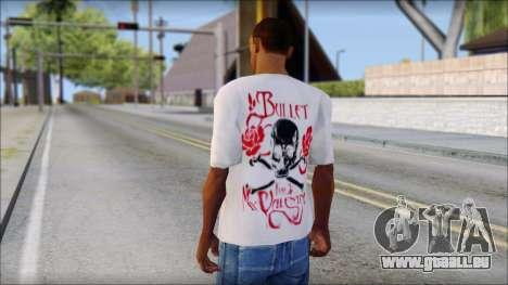 Bullet For My Valentine White Fan T-Shirt für GTA San Andreas zweiten Screenshot