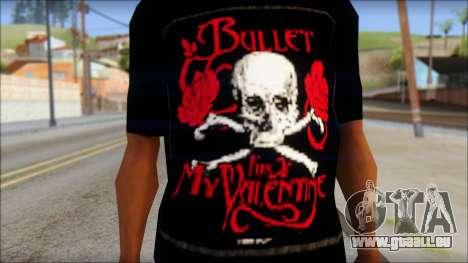 Bullet for my Valentine Fan T-Shirt für GTA San Andreas dritten Screenshot