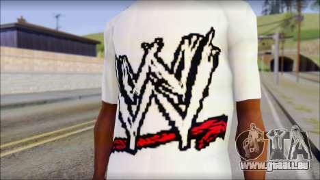 WWE Logo T-Shirt mod v1 pour GTA San Andreas troisième écran