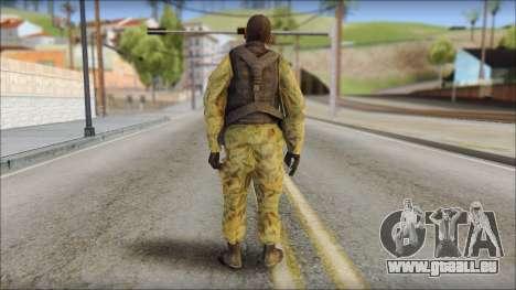 Afganistan Forces pour GTA San Andreas deuxième écran
