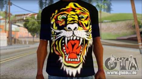 Ed Hardy Lion T-Shirt pour GTA San Andreas troisième écran