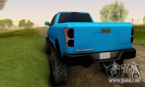 Toyota Tundra OFF Road Tuning Blue Star für GTA San Andreas rechten Ansicht