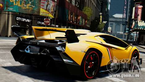 Lamborghini Veneno 2013 pour GTA 4 est une gauche