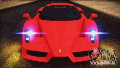 Ferrari Enzo 2002 für GTA San Andreas obere Ansicht