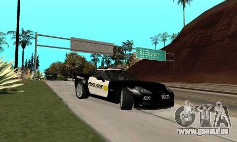 Chevrolet Corvette Z06 Los Santos Sheriff Dept pour GTA San Andreas