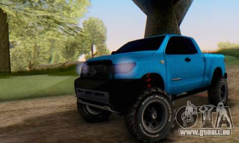Toyota Tundra OFF Road Tuning Blue Star pour GTA San Andreas