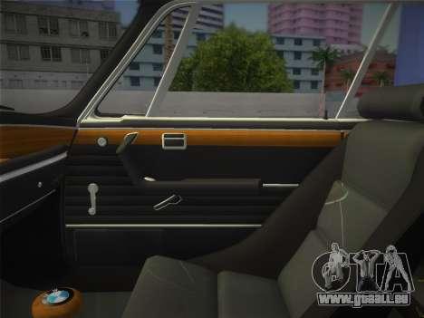 BMW 3.0 CSL 1971 pour GTA Vice City vue arrière