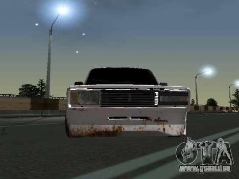 VAZ 2107 Clochard pour GTA San Andreas laissé vue