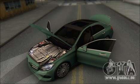 Mercedes-Benz C250 V1.0 2014 pour GTA San Andreas vue de dessous