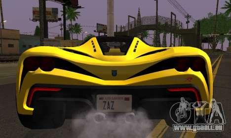 Grotti Turismo R V.1 pour GTA San Andreas vue de droite
