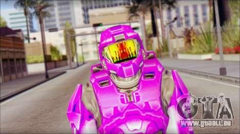 Masterchief Purple from Halo pour GTA San Andreas troisième écran
