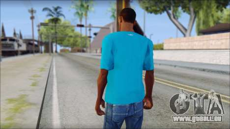 Blue Adidas Shirt für GTA San Andreas zweiten Screenshot
