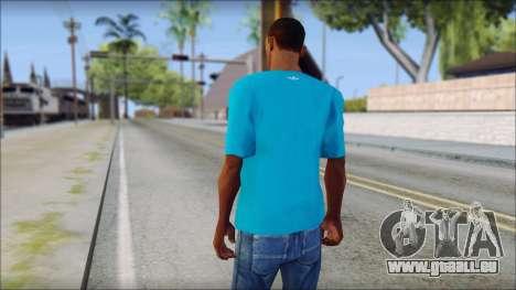 Blue Adidas Shirt pour GTA San Andreas deuxième écran