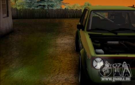 Volkswagen Golf Mk I pour GTA San Andreas vue de droite