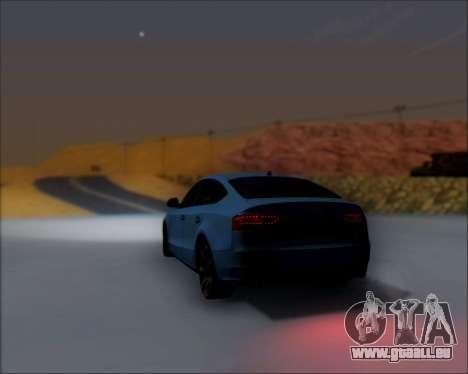 Audi A7 pour GTA San Andreas vue intérieure