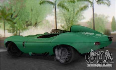 Jaguar D Type 1956 für GTA San Andreas linke Ansicht