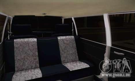 Peykan 1600i Limo pour GTA San Andreas sur la vue arrière gauche