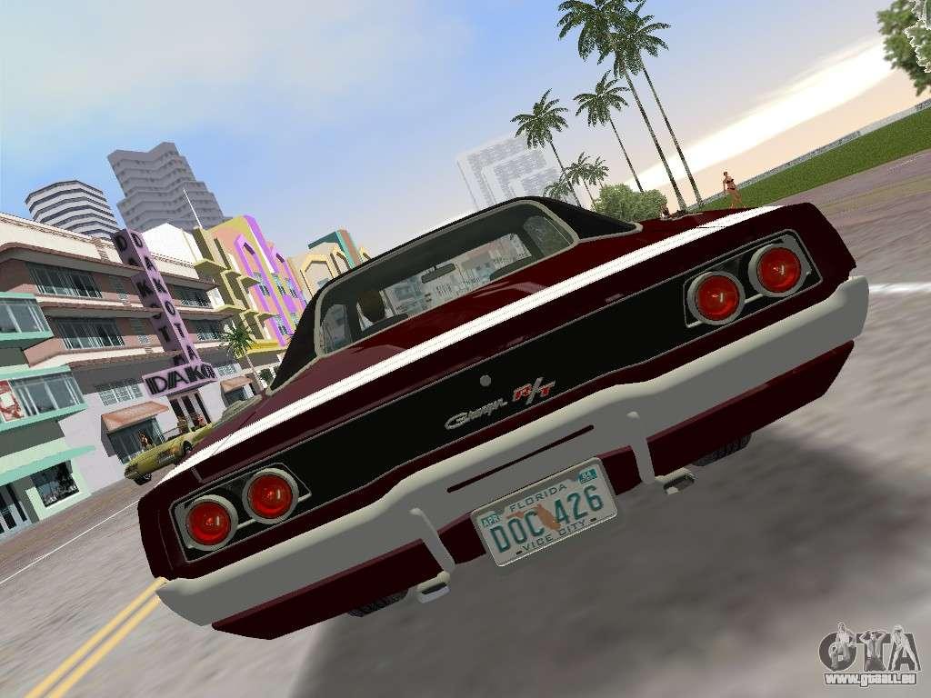 Dodge Charger Rt 426 1968 Pour Gta Vice City