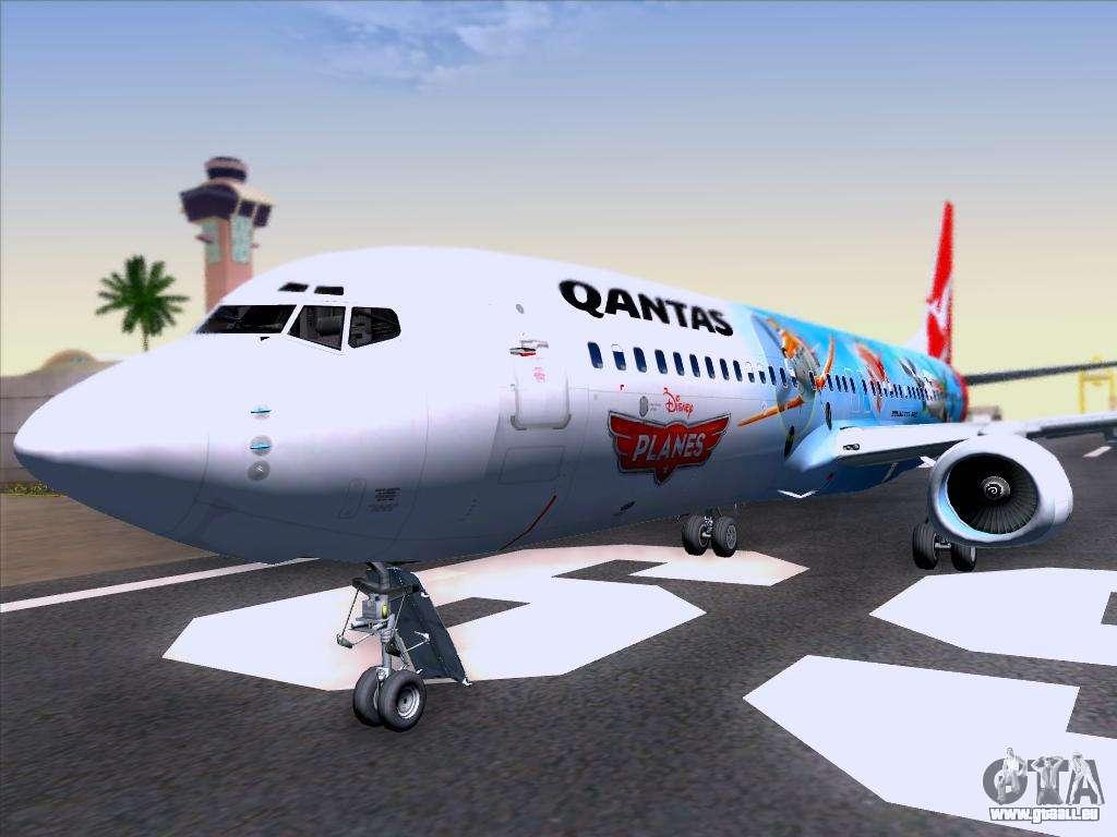 Qantas boeing 737-800 pour gta san andreas qualité et à la mode